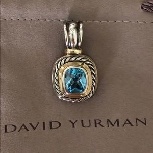 Jewelry - David Yurman  Blue Topaz ALBION Pendant